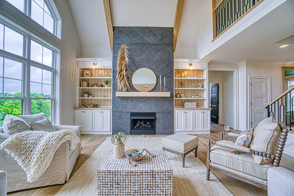 Great Room Fireplace/Bookcases