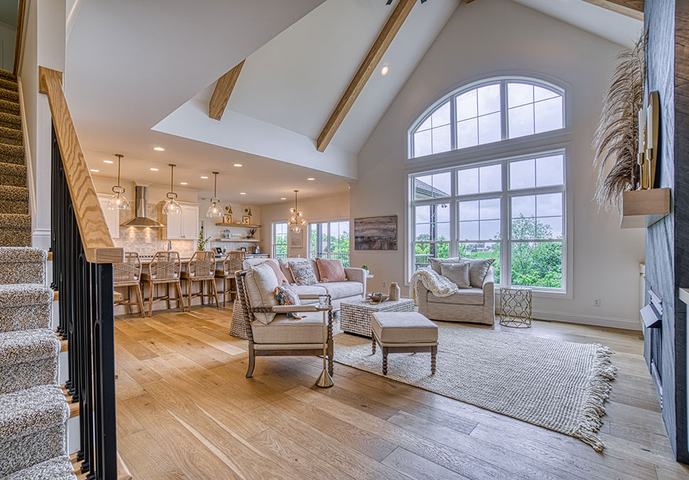 Window/Vaulted Ceiling